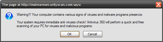 picture of a pop up virus