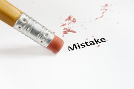 pencil eraser erasing mistake