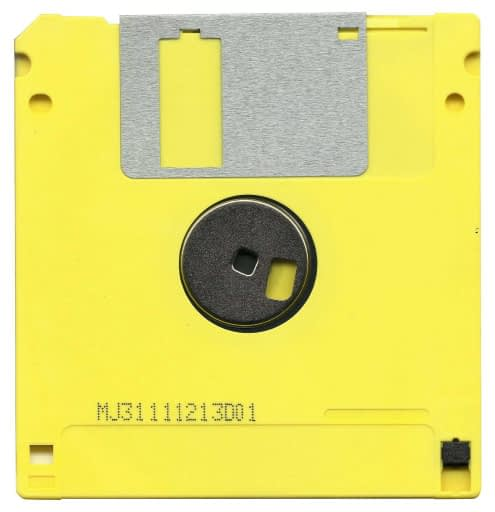 yellow-computer-disc