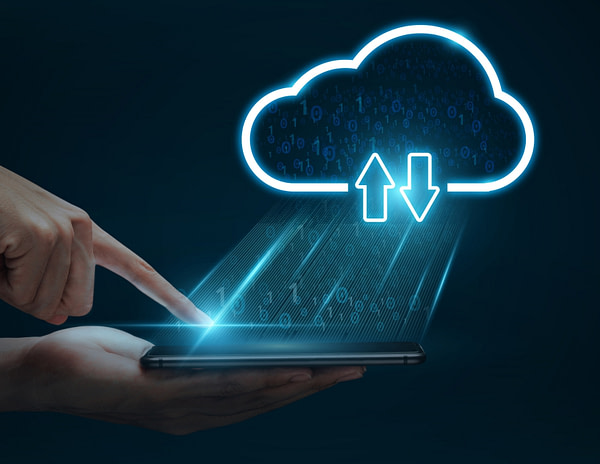 Tech importing information from computer to cloud