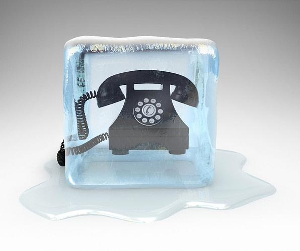 frozen phone representing cold calls of remote tech support scams