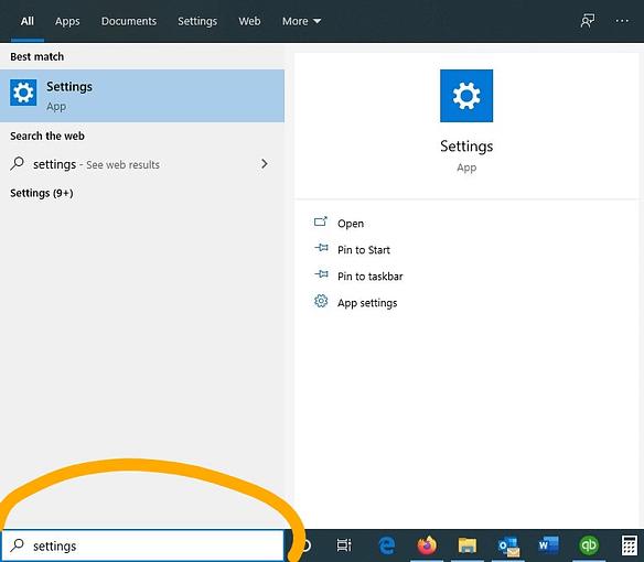 Finding Settings in Windows 10 DRC Technologies