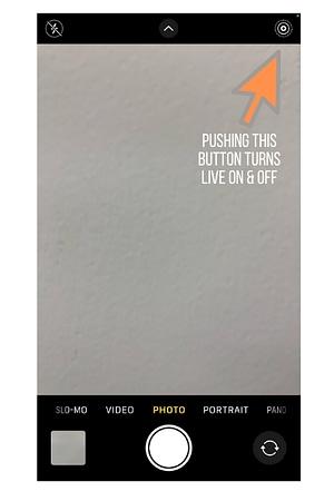 Screenshot of Live Photo on iphone convert HEIC to JPG