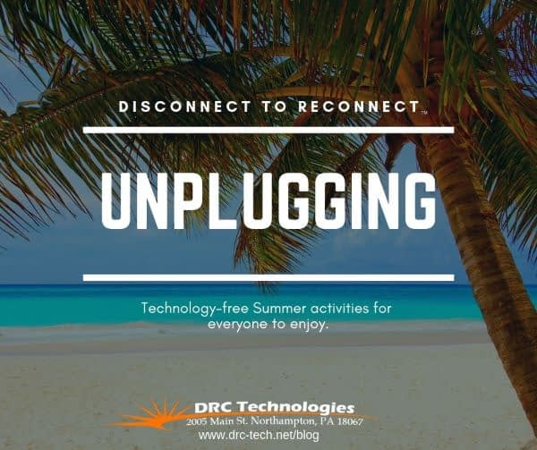 Unplugging ideas for summer tropical beach background DRC Technologies