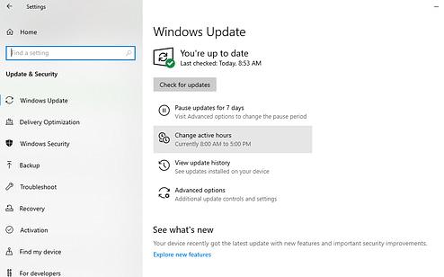 Checking Windows updates DRC Technologies