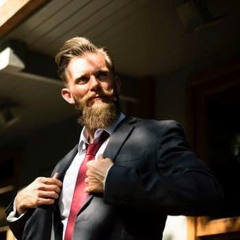 villainous man in a suit